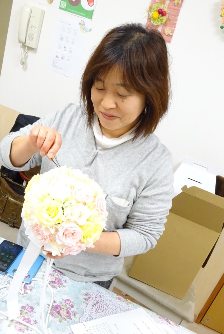花嫁の母 手作りブーケ